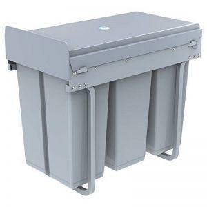 1home Poubelle Recyclable Compatiment à Tirer pour Cuisine 30L, Gris de la marque 1home image 0 produit