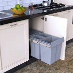 1home Poubellet Recyclable Compatiment à Tirer pour Cuisine 40L, Gris de la marque 1home image 1 produit