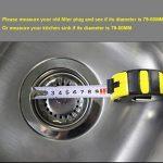 2 unités Filtre à évier / bouchon de bonde pour évier, en acier inoxydable, diamètre de 79.3 mm, Épais de la marque QRITY image 5 produit