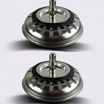 2 unités Filtre à évier / bouchon de bonde pour évier, en acier inoxydable, diamètre de 79.3 mm, Épais de la marque QRITY image 1 produit