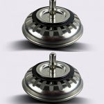 2x Filtre à évier / bouchon de bonde pour évier, en acier inoxydable, diamètre de 73mm de la marque Qrity image 1 produit