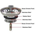 2x Filtre à évier / bouchon de bonde pour évier, en acier inoxydable, diamètre de 73mm de la marque Qrity image 2 produit