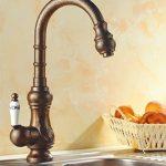 5151buyworld Top Qualité robinet NEUF Tide européenne de style rétro romain Bronze Surface de cuisine salle de bain robinet Corps en laiton robinet mitigeur pour salle de bain Cuisine Maison Couvent, Blanc, de la marque 5151BuyWorld image 0 produit