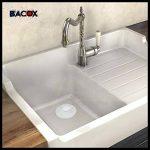��Bacox®️�� Bonde lavabo, bonde evier, bonde baignoire. Bouchon de baignoire, bouchon de lavabo, bouchon evier. (Blanc) de la marque Bacox image 2 produit