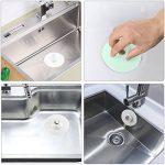 Aibesser 4PC Bonde de baignoire et douche, avec fonction attrape-cheveux évier crépine bouchon de vidange pour salle de bains, cuisine, buanderie et plancher de la marque Aibesser image 1 produit