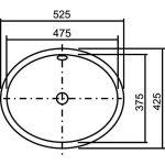 Alape EB. 0525Vasque évier ovale Blanc de la marque Alape image 1 produit