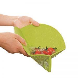 Ambrosya® | Planche à découper pliable avec tamis intégré | Bac à Drip Plateau Petite Cuisine Ménagère En Plastique Circulaires Ensemble de Tapis Découpe (Vert, 27 cm) de la marque Ambrosya image 0 produit