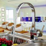Auralum créatifs 360° Robinet de cuisine chrome Robinet d'évier robinet mitigeur monocommande avec douchette Tête, argent de la marque AuraLum image 2 produit