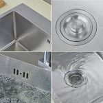Auralum évier de cuisine carré 45 x 55cm 1 Évier + 2 trou + Trop-plein et Siphon Cuisine lavabo évier inox 1 bac de la marque AuraLum image 3 produit