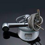 Auralum® Mitigeur Robinet d'Évier avec Douchette Extractible pour evier de cuisine en Laiton Chromé Eau Chaude et Froide de la marque AuraLum image 5 produit