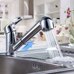 Auralum® Mitigeur robinet de cuisine évier Eurostyle Cosmopolitan Chromé haute pression avec douchette de la marque AuraLum image 1 produit