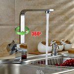 Auralum® Robinet Mitigeur Carré pour Cuisine Design Élégant en forme de « 7 » de la marque AuraLum image 1 produit
