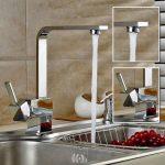 Auralum® Robinet Mitigeur Carré pour Cuisine Design Élégant en forme de « 7 » de la marque AuraLum image 3 produit