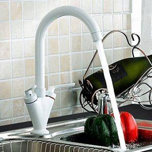 Blanc classique moderne de style traditionnel à levier double Mitigeur de cuisine de la marque Atorre® image 0 produit