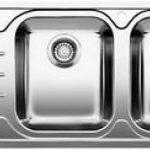 Blanc MEDIAN 8s-iF–Évier (acier inoxydable, 345x 400mm, 19cm, 116cm, 50cm, 19cm de la marque Blanco image 1 produit