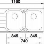 Blanc MEDIAN 8s-iF–Évier (acier inoxydable, 345x 400mm, 19cm, 116cm, 50cm, 19cm de la marque Blanco image 2 produit
