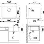 Blanco - 513413 - Évier - Blancosubline 500-U - Silgranit® PuraDur® II - Anthracite de la marque Blanco image 1 produit