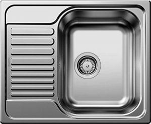 Blanco Tipo 45S Mini 516524Évier de cuisine en acier inoxydable pour meuble de 45cm Finition naturelle/argent réversible de la marque Blanco image 0 produit