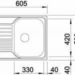 Blanco Tipo 45S Mini 516524Évier de cuisine en acier inoxydable pour meuble de 45cm Finition naturelle/argent réversible de la marque Blanco image 2 produit