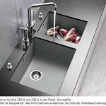 BLANCOSUBLINE 320-U évier encastrable sous plan, gris rocher, SILGRANIT®, pour des meubles sous évier de 40 cm - 518952 de la marque Blanco image 4 produit