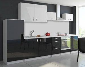 Cuisine complète 3m20 OXIN laquée noir et blanc (noir et blanc) de la marque tendencio image 0 produit