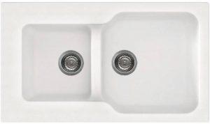 Elleci lgf43052granit–Evier granit, blanc, 2bols, 290x 320mm, 21,5cm, 405x 420mm) de la marque Elleci image 0 produit