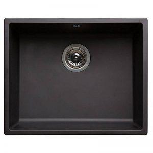 Evier 1 cuve carrée en résine noire 500x400x200mm bonde a panier en inox de la marque AUCUNE image 0 produit