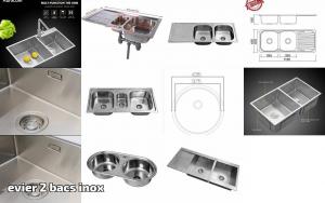 Franke Mikado MON 651 /Évier en acier inoxydable avec bac 1/1//2 Texture soie