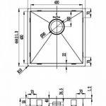 Evier de cuisine en inox Mizzo Design 40-40 Affleurant / Sous plan - Cuve inox de cuisine carré / évier acier inoxydable 40*40cm de la marque Mizzo Design ® image 5 produit