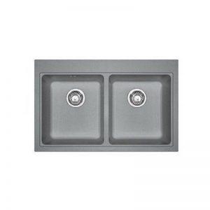 Franke 114.0442.910Granit évier de cuisine fabriqué avec double Bol, gris pierre de la marque FRANKE image 0 produit