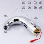 Gimify Capteur Automatique Robinet Mitigeur en Laiton et Chrome pour Lavabo de Cuisine ou Salle de bain Economie d'eau Chaude et Froide Alimentation Batterie de la marque Gimify image 2 produit