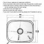Grand évier de cuisine inox sous plan. 1 bac. finition acier brossé (A28A bs) de la marque GTDE image 2 produit