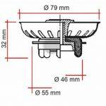 GRILLE FILTRÉ BOUCHON POUR ÉVIER UNIVERSEL TIPE TEKA (81 X 31 mm) (2 PCS) de la marque MONTSERRAT image 2 produit