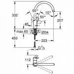 GROHE 31374000 - Mitigeur - Évier Start Loop de la marque GROHE image 1 produit