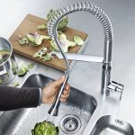 GROHE Robinet de Cuisine K7 Bec Haut Douchette Professionnelle Starlight 32950000 (Import Allemagne) de la marque GROHE image 4 produit