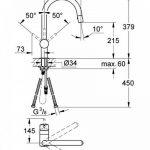 GROHE Robinet de Cuisine Minta Plage de Rotation de 360° Douchette Escamotable Supersteel Bec en C 32321DC0 (Import Allemagne) de la marque GROHE image 1 produit