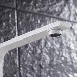 Hootecheu Robinet Mitigeur Blanc Spot évier Modern Carée Sept Lavabo Levier Unique Bec Pivotant L Mot Style pour Cuisine Salle de Bain de la marque hootecheu image 4 produit