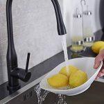 HUDSON REED Robinet Mitigeur Cuisine Noir Design Laiton Massif - Col Évasé Original de la marque HUDSON REED image 2 produit