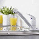 HUDSON REED Robinet Mitigeur de Cuisine - Laiton Blanc - Monotrou de la marque HUDSON REED image 4 produit