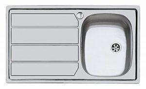 Idro Bric U81020 DX1 Inox Évier à Encastrer 1 Cuve avec Égouttoir à Droite 79 x 50 cm de la marque IDRO BRIC image 0 produit