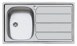 Idro Bric U81020 SX1 Inox Évier à Encastrer 97 x 50 cm 1 Cuve avec Égouttoir de la marque IDRO BRIC image 0 produit