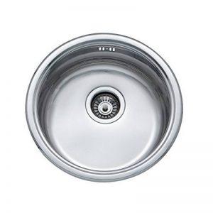 Jass Ferry, évier de cuisine de forme ronde en acier inoxydable de 145mm de profondeur avec crépine à déchets et tuyauterie. de la marque JASS FERRY image 0 produit