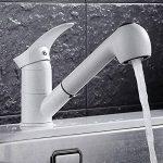 jruia extensible Robinet mitigeur cuisine avec douchette extractible bec orientable à 360° Cuisine Évier Robinet Robinet mitigeur robinet de l'évier en laiton, blanc de la marque JRUIA image 3 produit