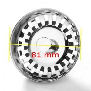 JZK® Passoire panier universel pour lavabo Télécommande avec vidage Diamètre 81 mm//Universal Passoire/tamis Passoire de la marque JZK image 0 produit