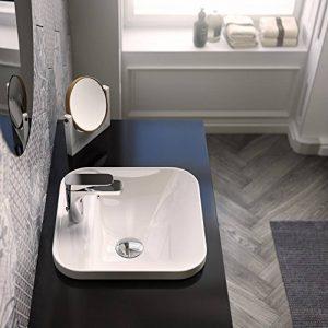 Lavabo Lavabo carré encastrable bord jusqu'Giò Evolution monotrou en céramique de la marque Artceram image 0 produit