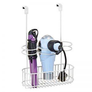 mDesign boîte de rangement sans perçage – boîte de rangement salle de bain en métal – organisateur salle de bain idéal pour sèche cheveux, lisseurs, etc. de la marque MetroDecor image 0 produit
