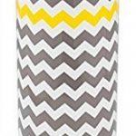 mDesign conteneur de papier toilette autoportant – support de papier WC sur pied – porte-rouleaux pour l'utilisation dans la salle de bain – montage sans perçage – couleur: gris/jaune zigzag de la marque MetroDecor image 2 produit