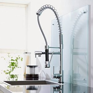 Milano Chrome professionnel robinet mitigeur de cuisine avec buse de rabattable de la marque Milano image 0 produit