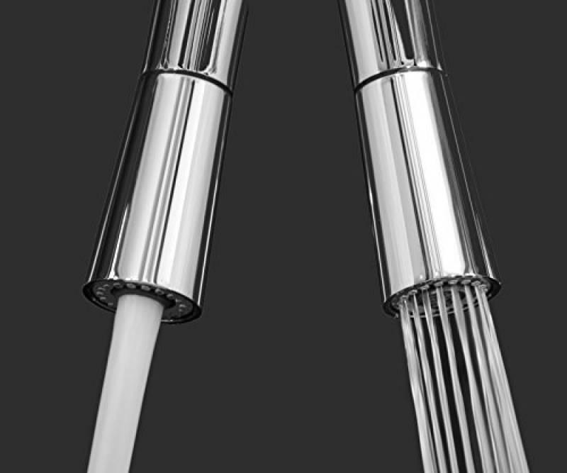 M/élangeur /évier cuisine rabattable 6cm orientable sous fen/être bec pivotant poign/ée /à gauche