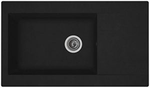 Respekta Denver Évier de cuisine encastrable Matériau de synthèse MinéraliteNoir 86x 50 de la marque Respekta image 0 produit